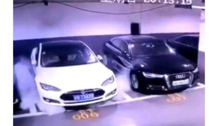 Tesla-Model-S-on-fire